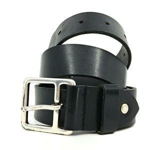 JL Foures Full Grain Cowhide Black Leather Belt